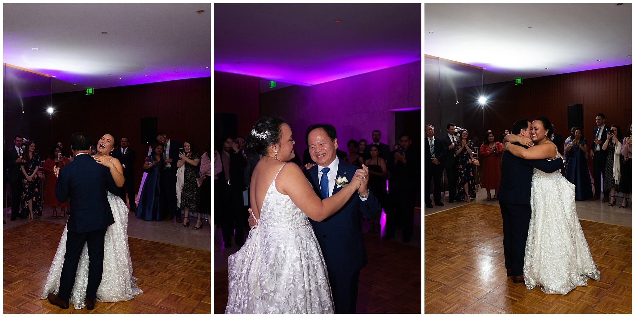 father daughter wedding dance at the Asia Society in Houston TX by Swish and Click Photography