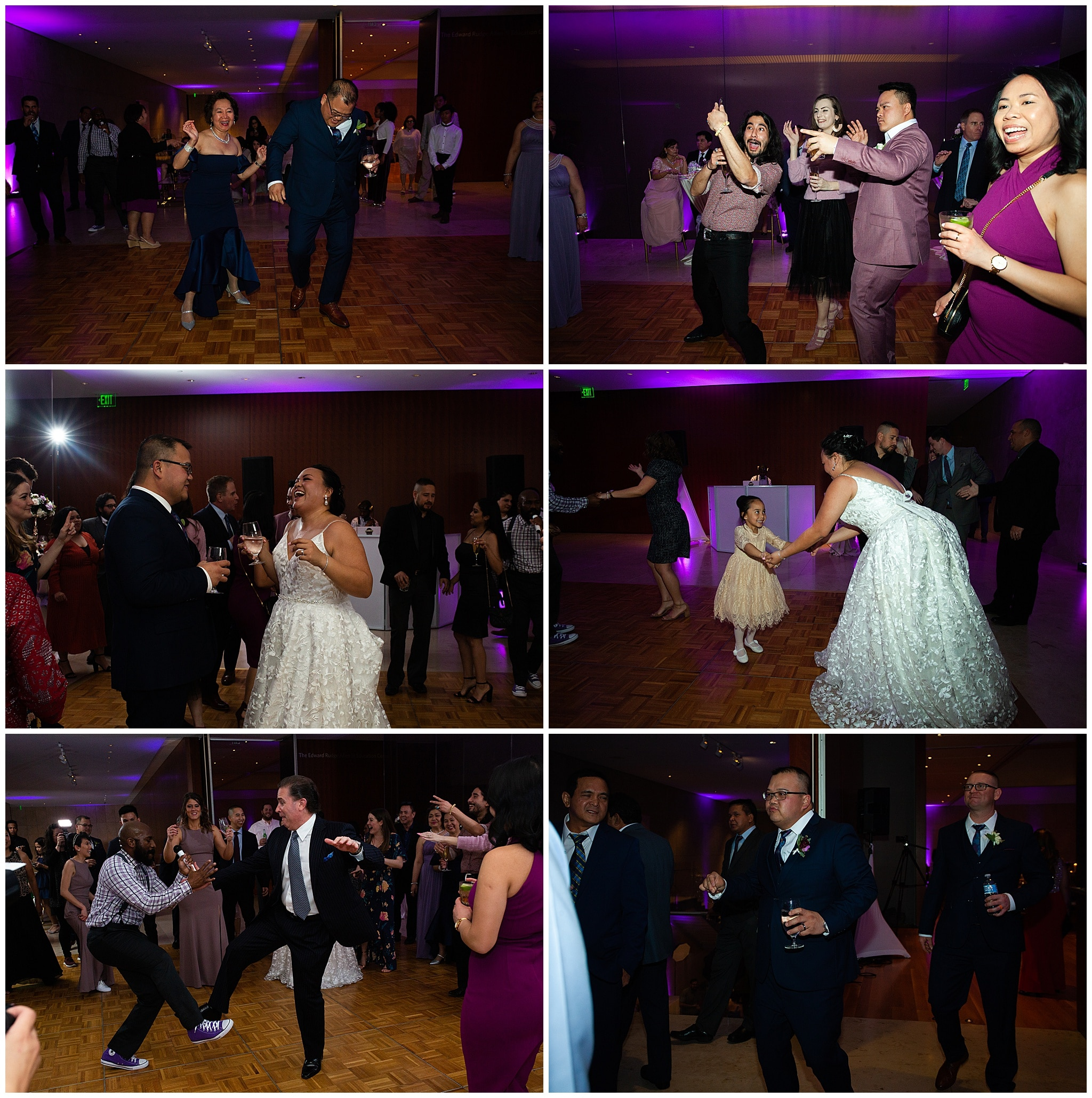 wedding reception dancing at the Asia Society in Houston TX by Swish and Click Photography