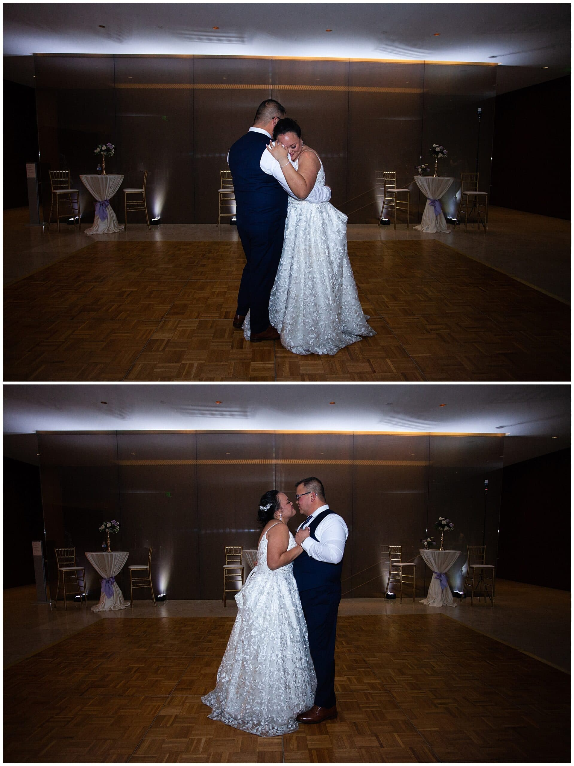 last dance with bride and groom at the Asia Society in Houston TX by Swish and Click Photography