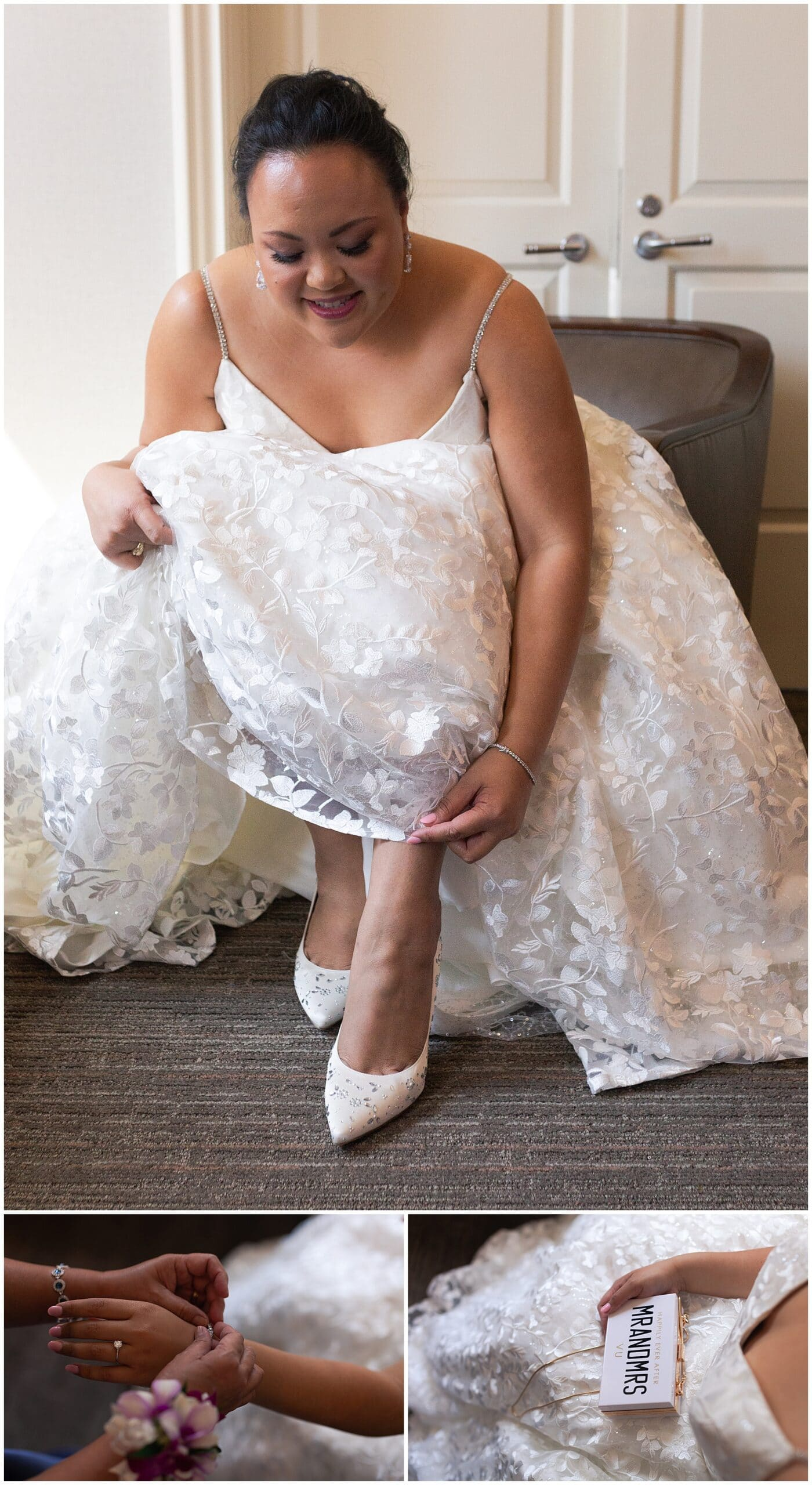 bride at The Westin in downtown Houston, Texas by Swish and Click Photography