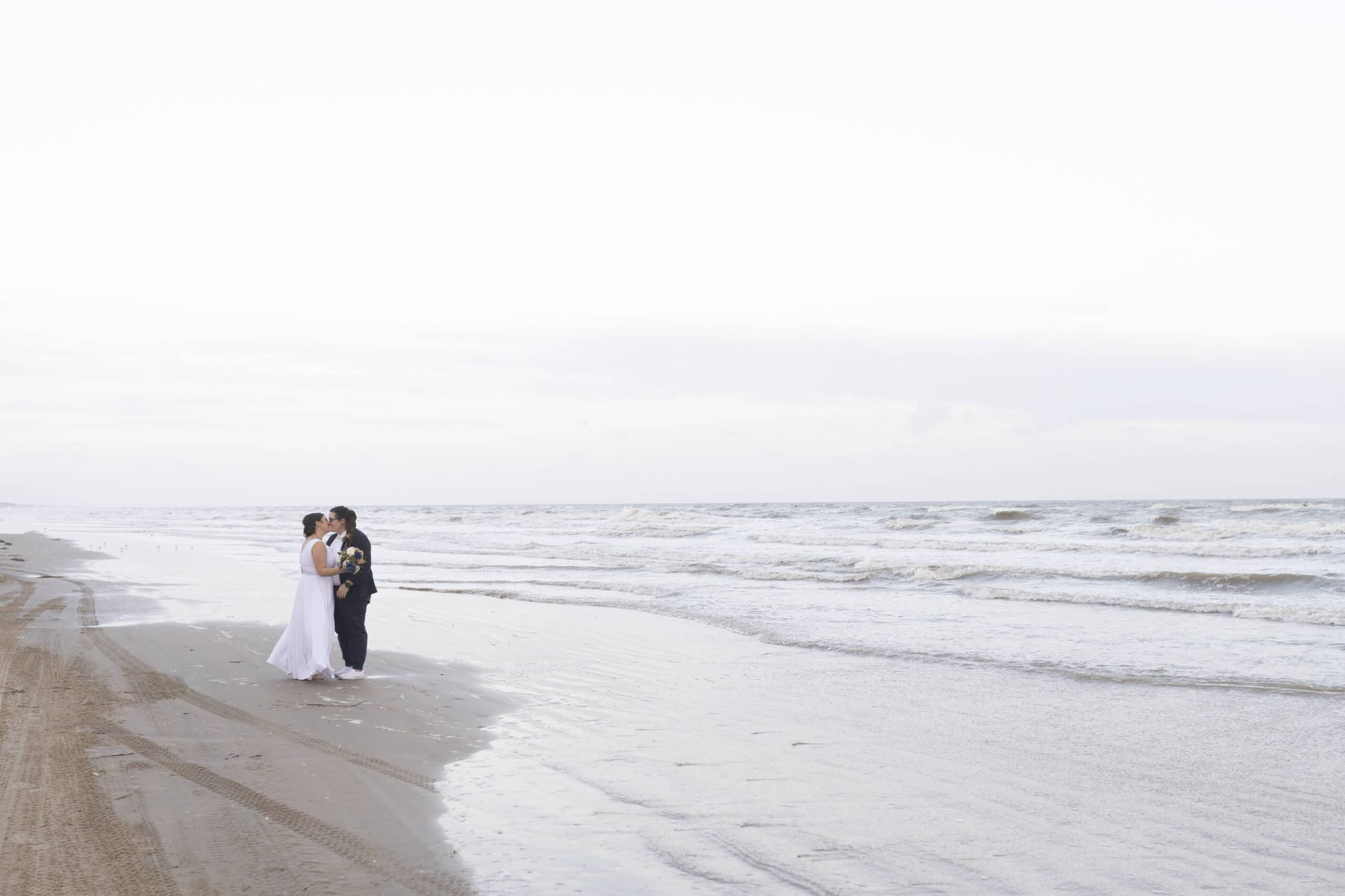 Houston beach LGBTQ+ wedding
