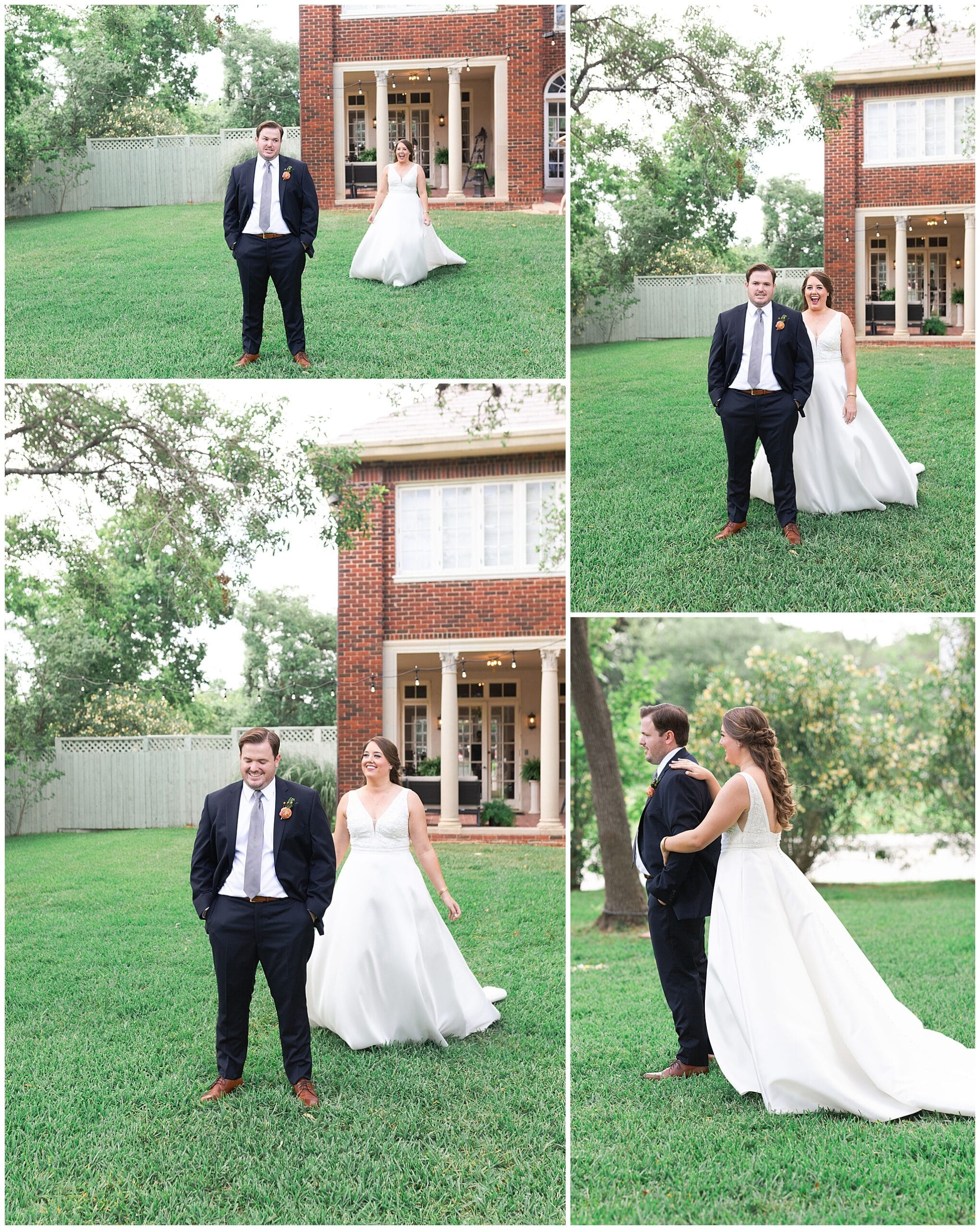 first look portraits at Astin Mansion in Bryan Texas by Swish and Click Photography