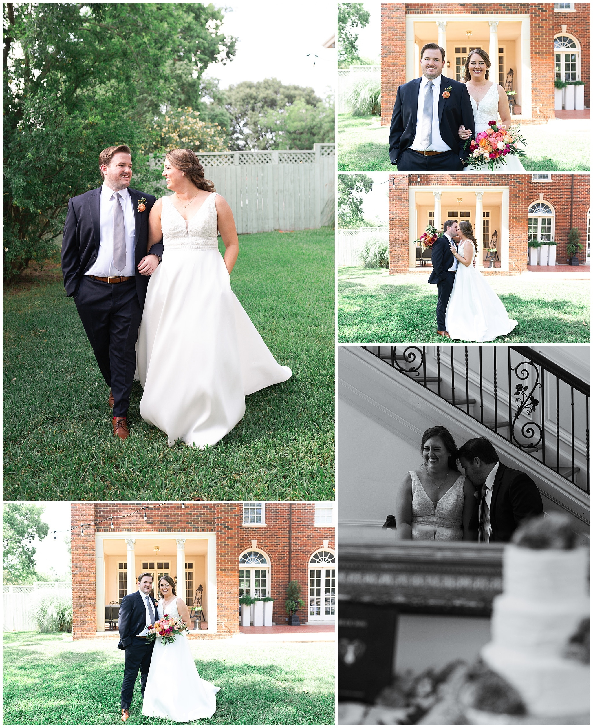 bride and groom portraits at Astin Mansion in Bryan Texas by Swish and Click Photography