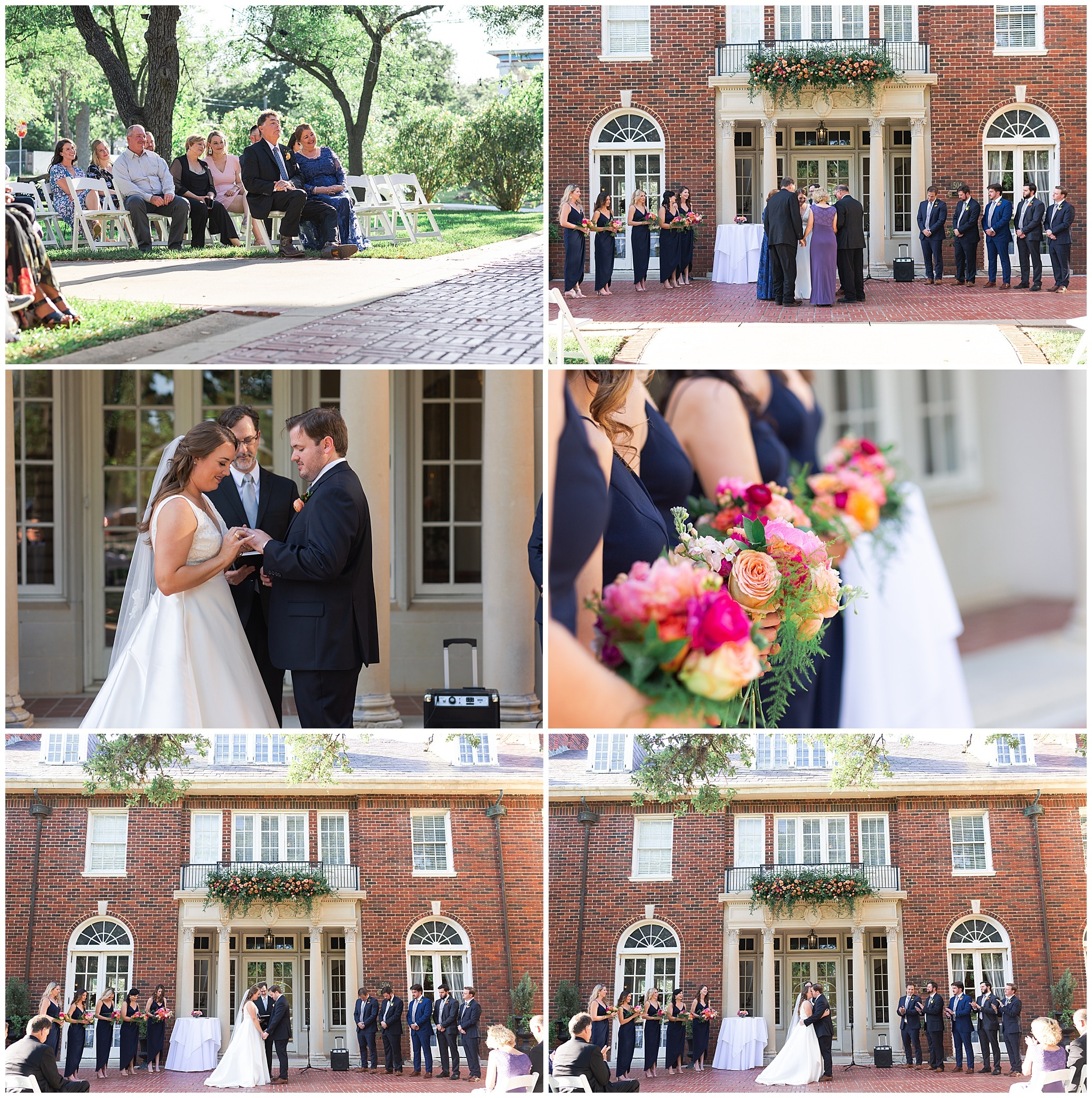 wedding ceremony at Astin Mansion in Bryan Texas by Swish and Click Photography