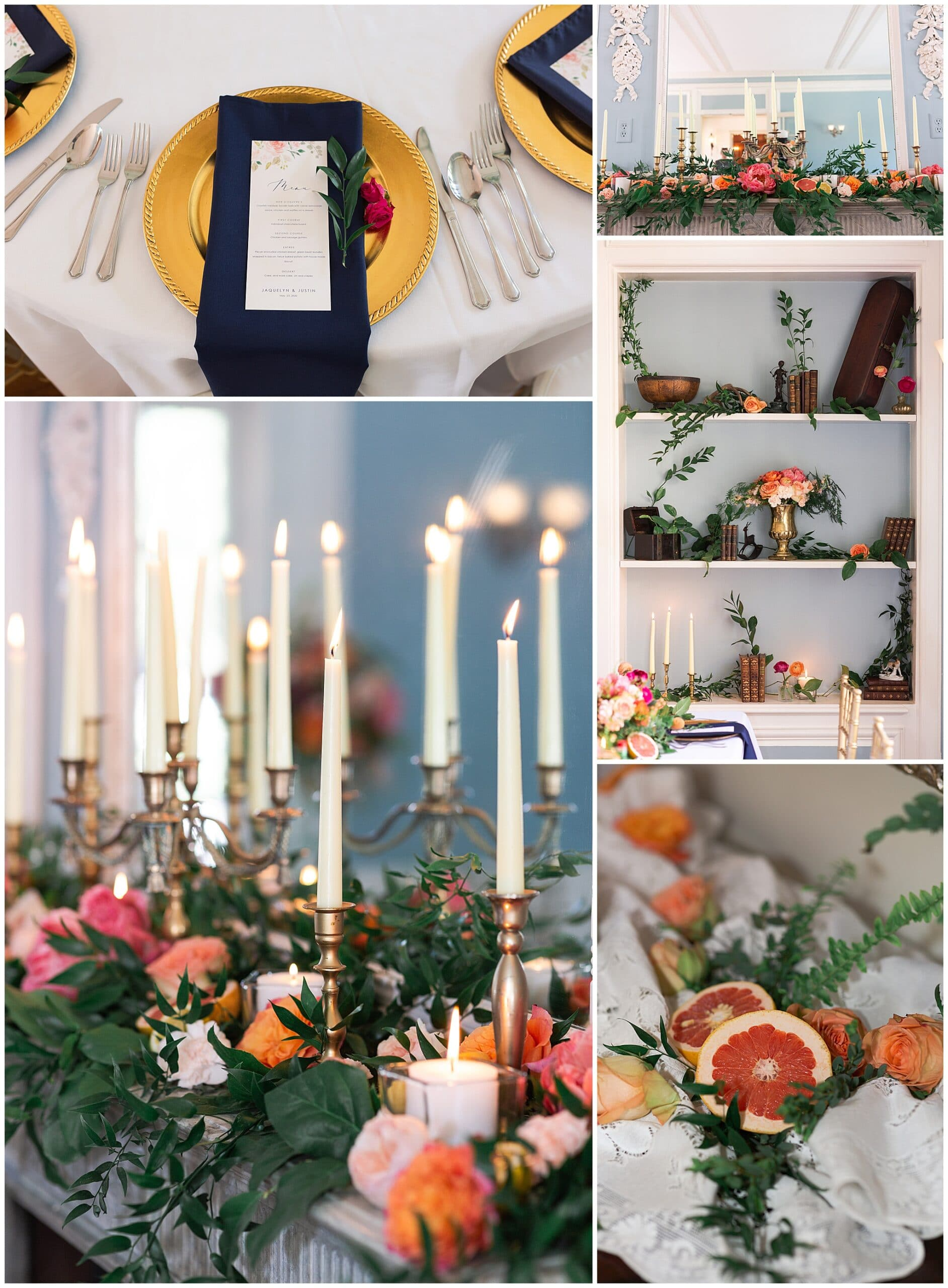 wedding reception details at Astin Mansion in Bryan Texas by Swish and Click Photography