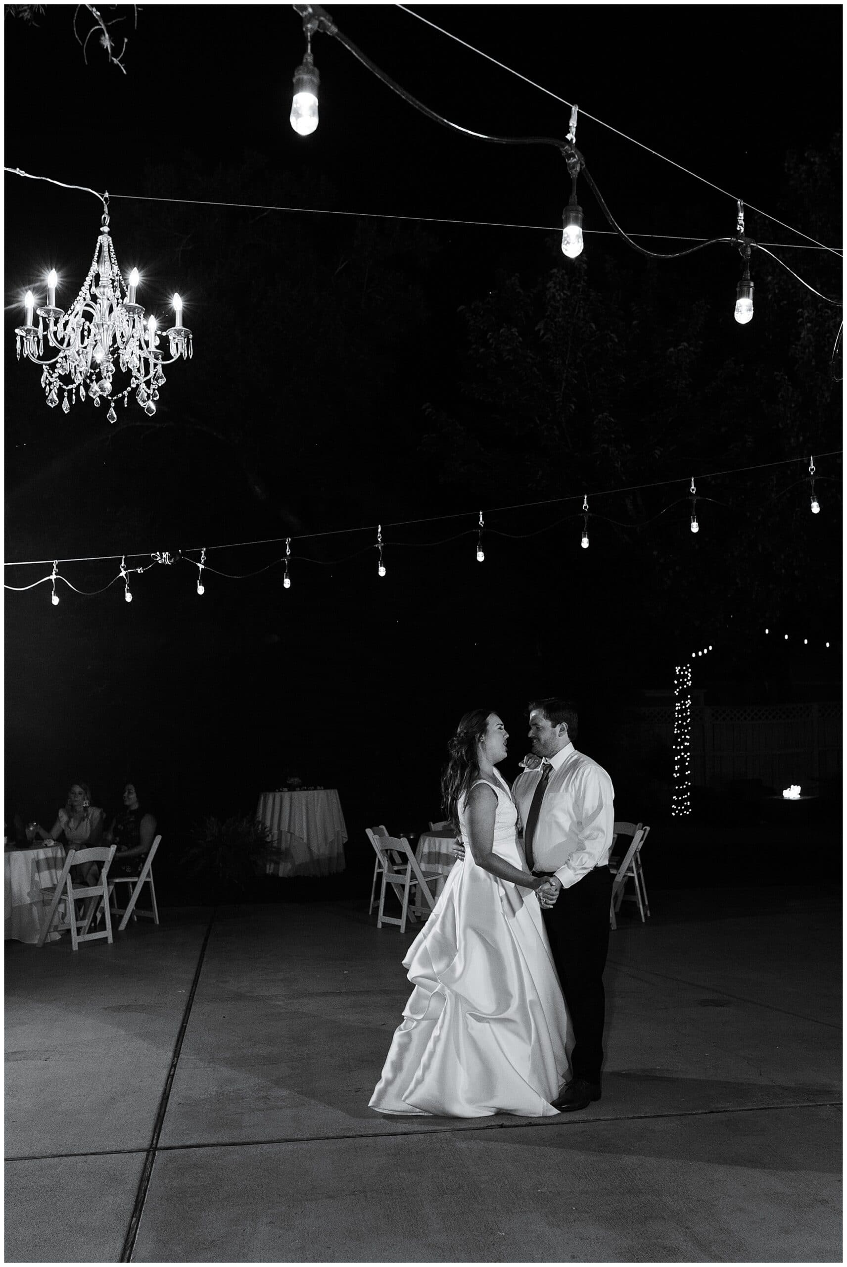 first dance by bride and groom at Astin Mansion in Bryan Texas by Swish and Click Photography