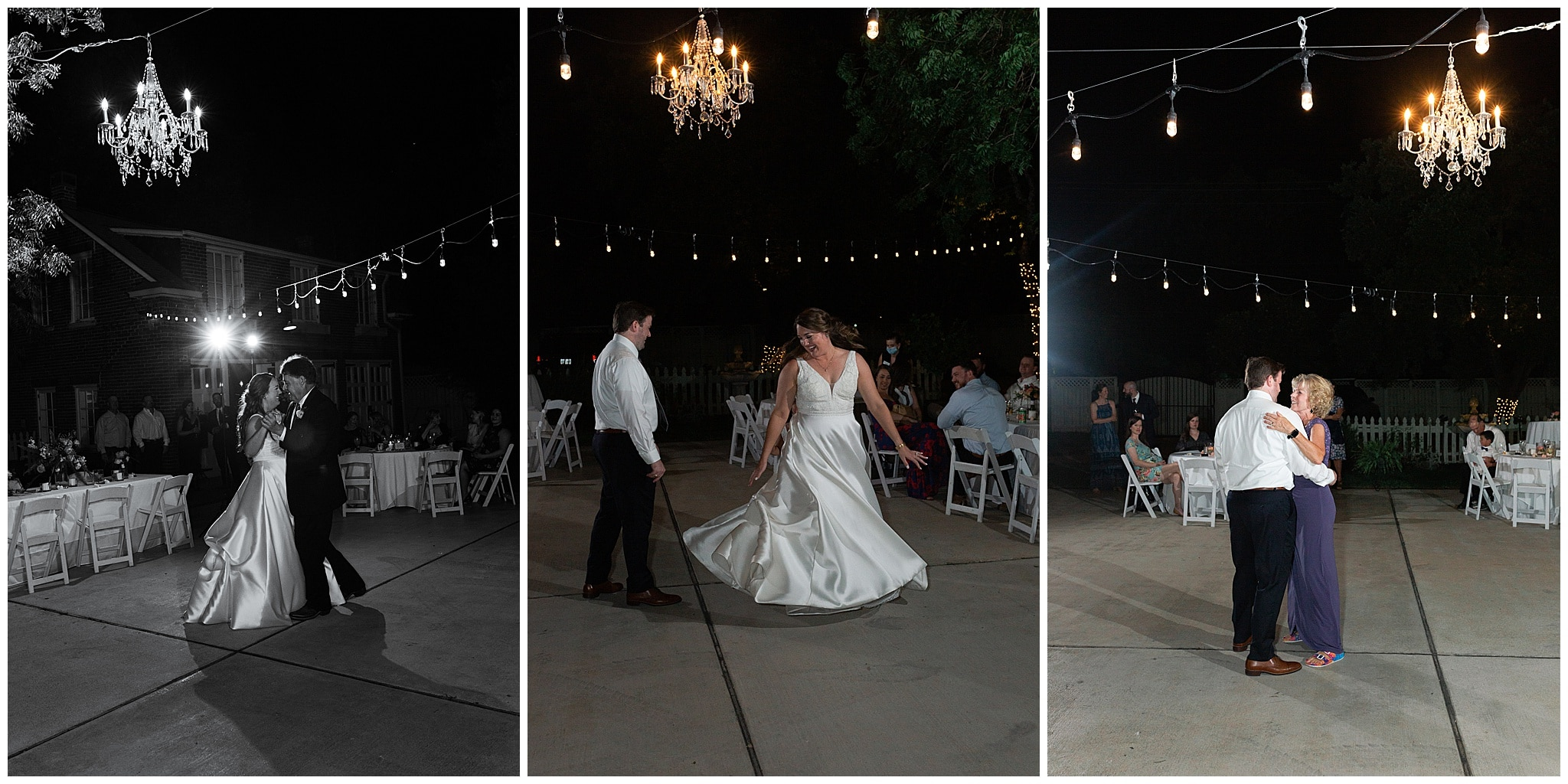 parent first dances with bride and groom at Astin Mansion in Bryan Texas by Swish and Click Photography