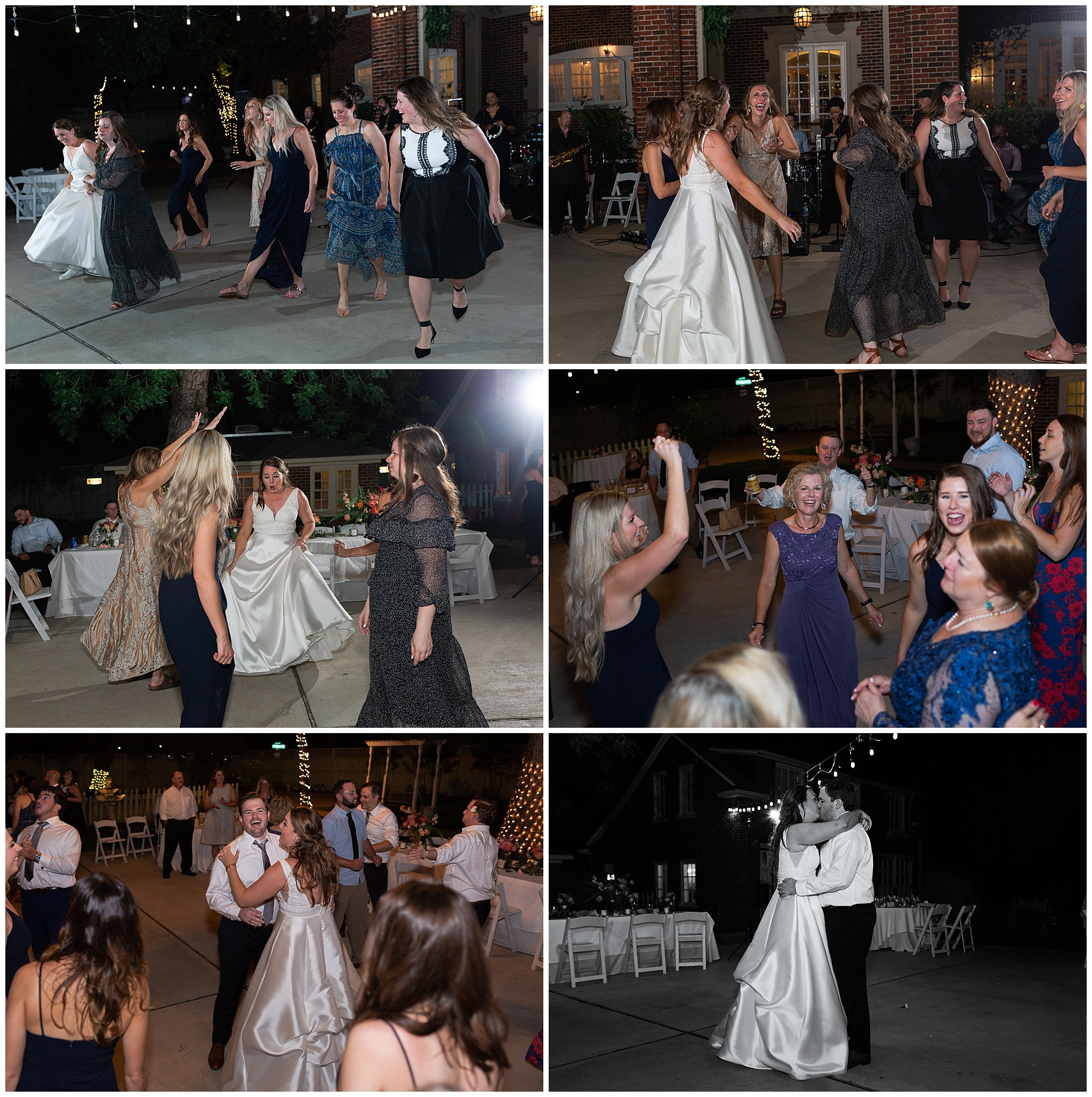 wedding reception dancing at Astin Mansion in Bryan Texas by Swish and Click Photography