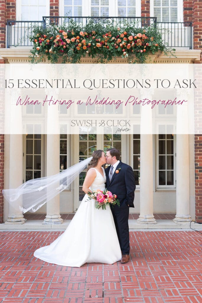 15 essential questions to ask when hiring a wedding photographer by Swish and Click Photography in Houston Texas
