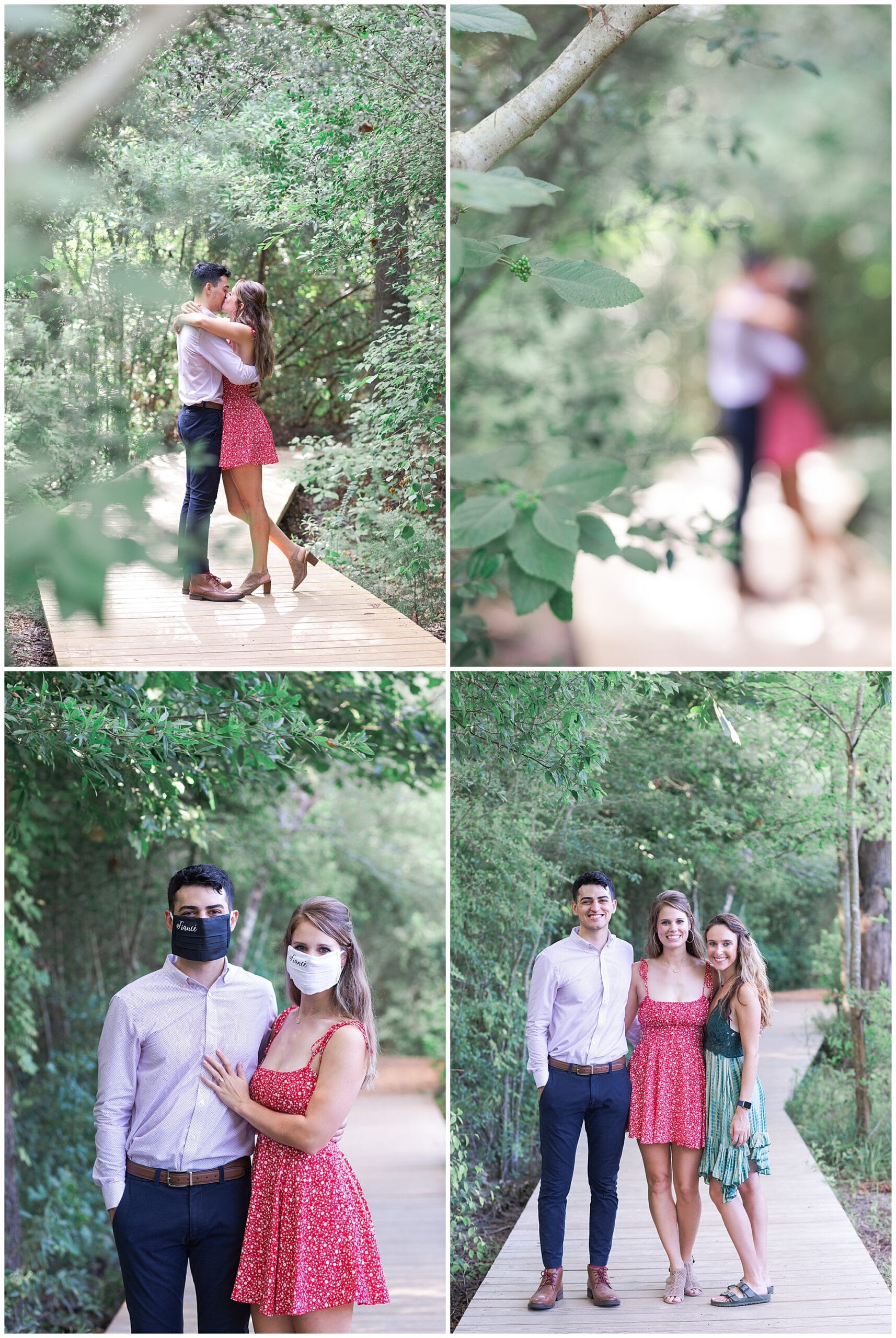 couples portraits at Houston Arboretum by Swish and Click Photography