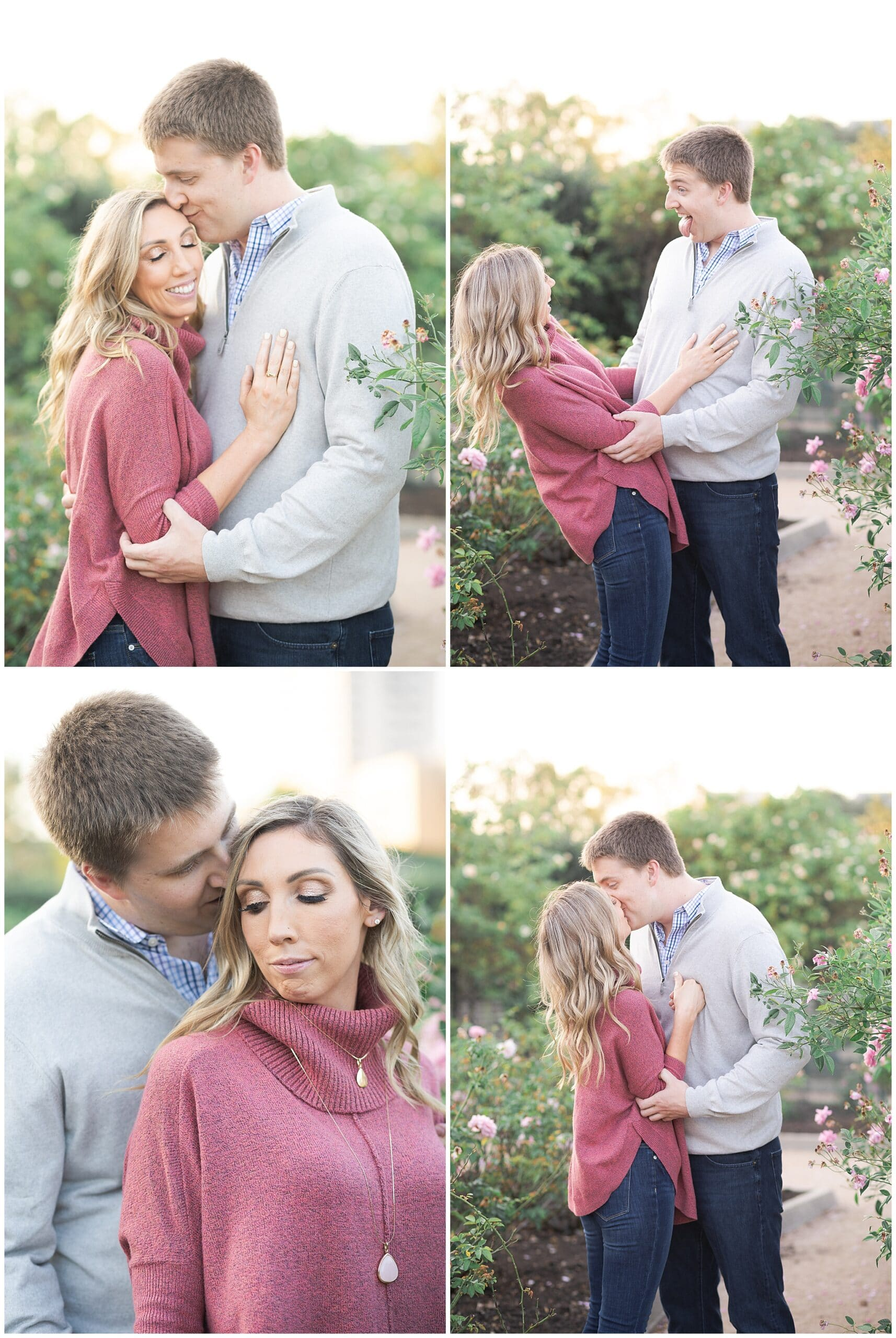 engagement photos at McGovern Centennial Gardens captured by Swish and Click Photography a Houston wedding photographer