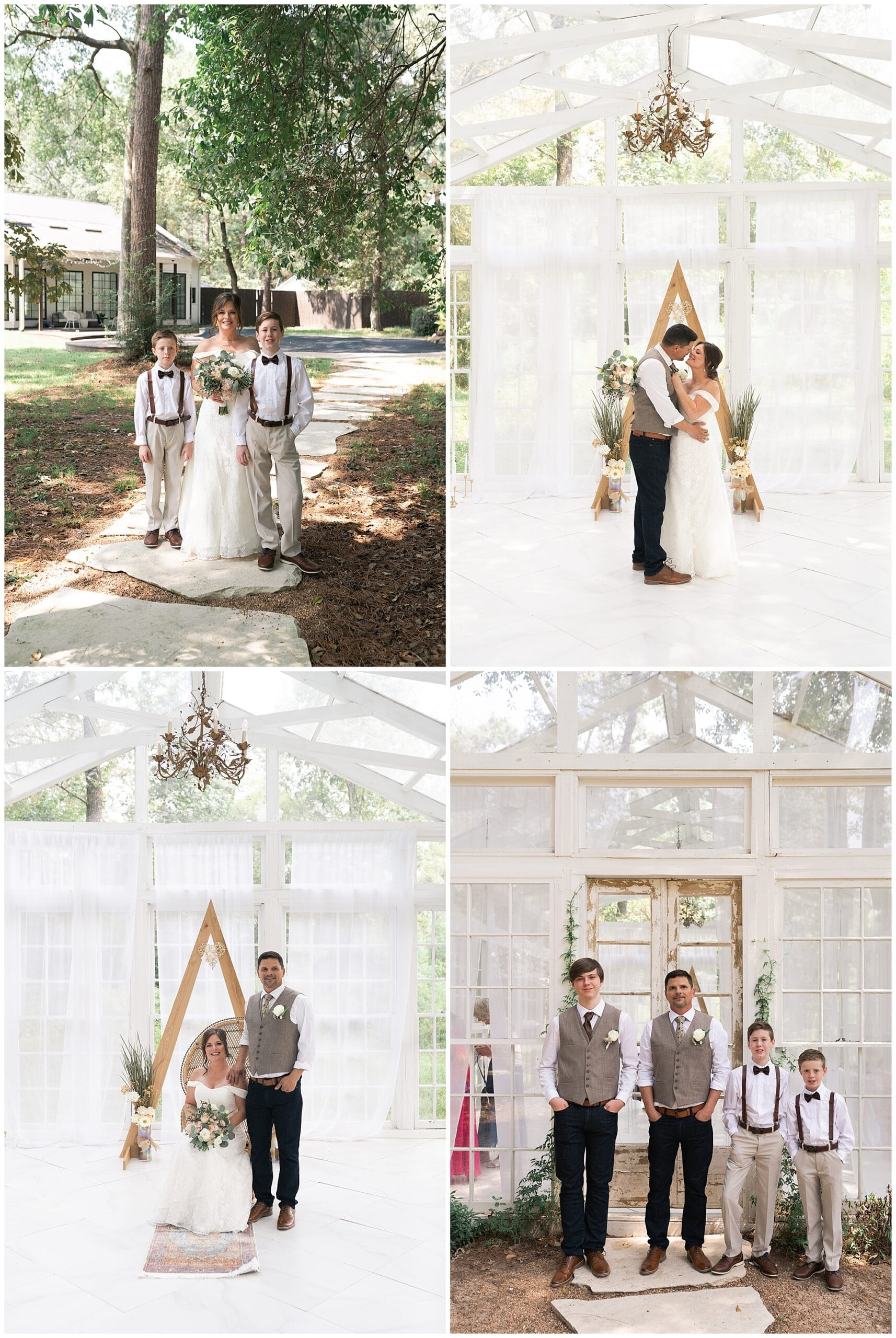 Oak Atelier elopement formal wedding photos captured by Swish and Click Photography in Houston Texas