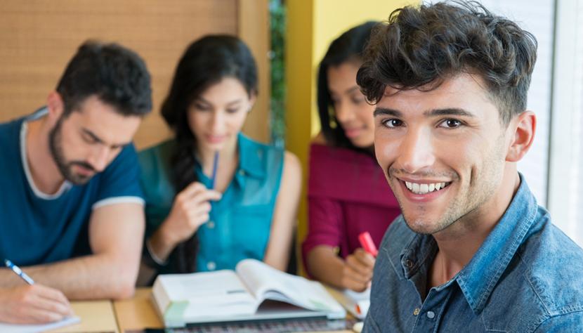 Smiling student looking at camera