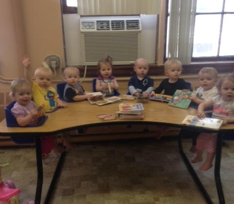 Early Learning Center children enjoying books