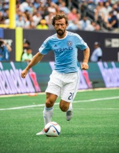 Andrea Pirlo remains under contract with NYCFC. (Photo courtesy of NYCFC)