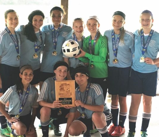 Bellmore Blue Angels win an Arch Cup title.