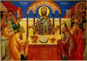 This icon embodies the nature of our Church's Holy Mysteries - eternal and life-giving.