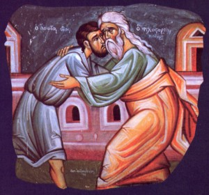 The prodigal son comes home: an image of mutual reconciliation.