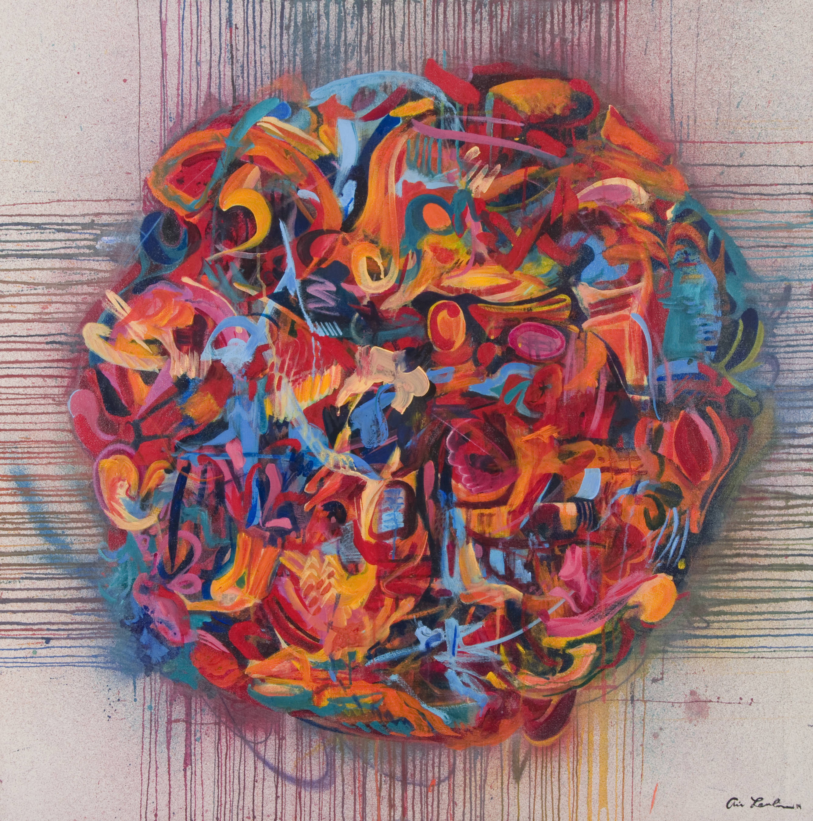 Balance | 71 x 71 inches | paint on canvas