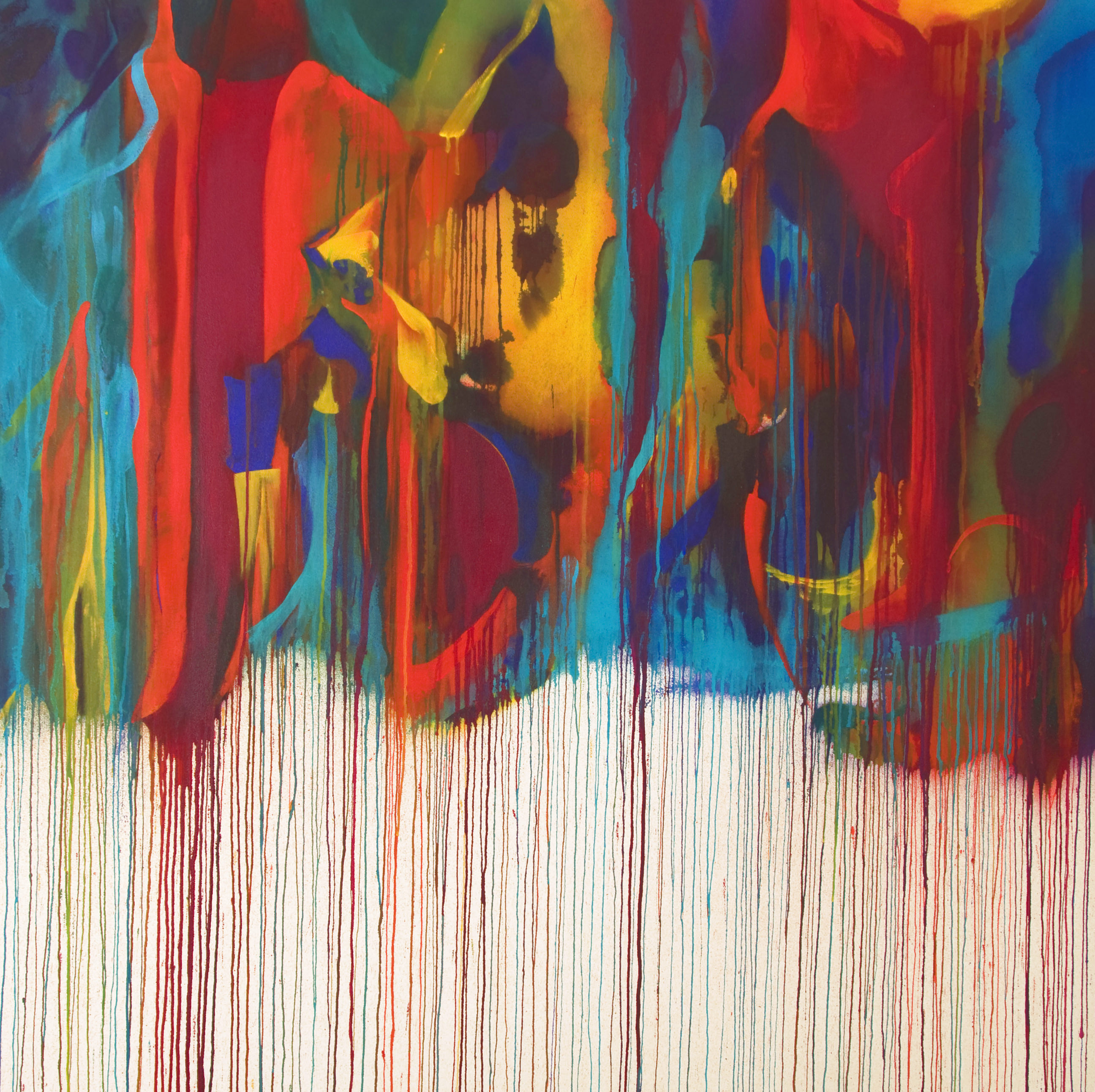 Brainstorm | 71 x 71 inches | paint on canvas