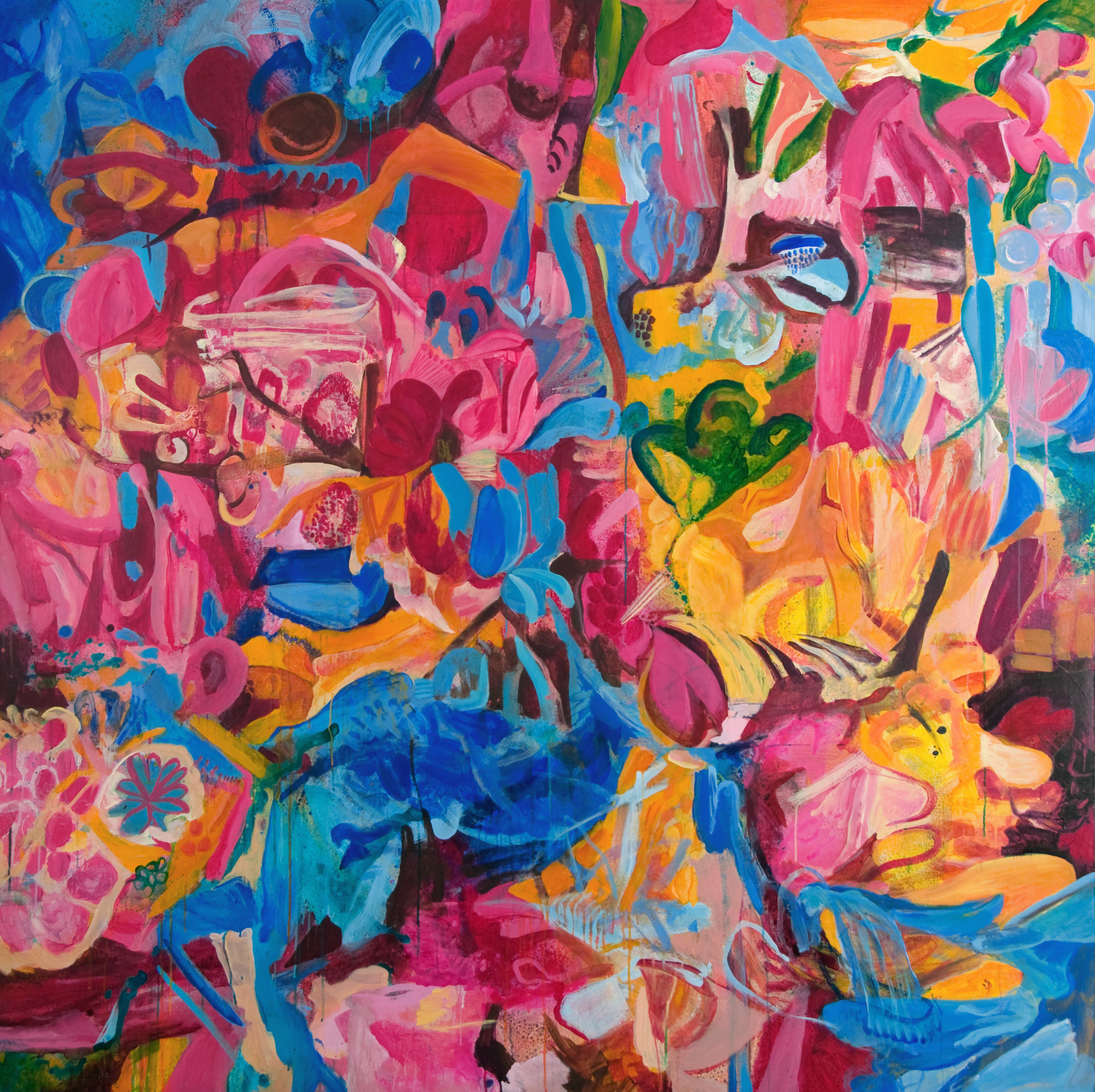 Elemental | 71 x 71 inches | paint on canvas