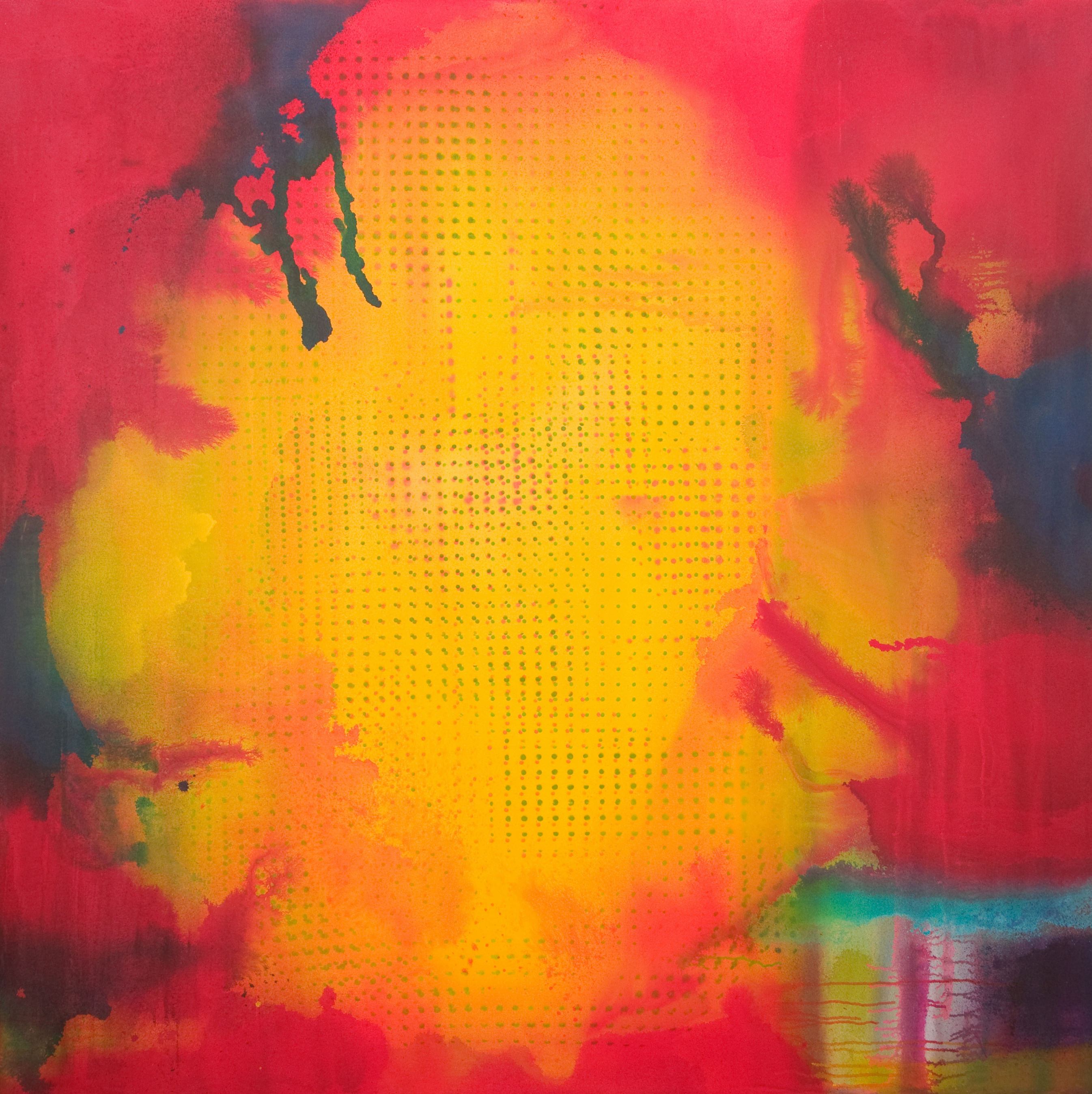 Heliopause (to Surya Lord of Light) | 71 x 71 inches | paint on canvas