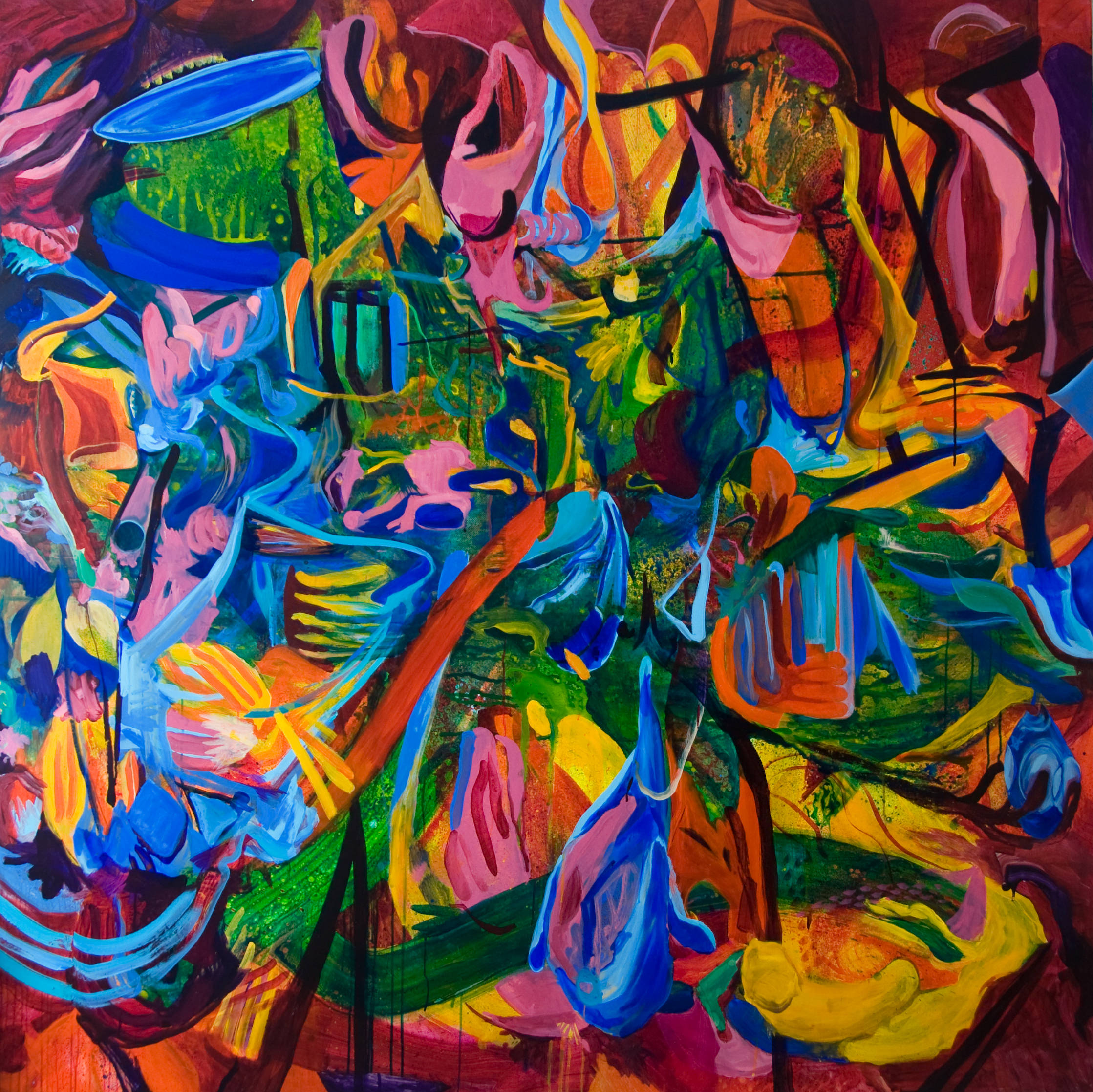 Intuitions | 71 x 71 inches | paint on canvas