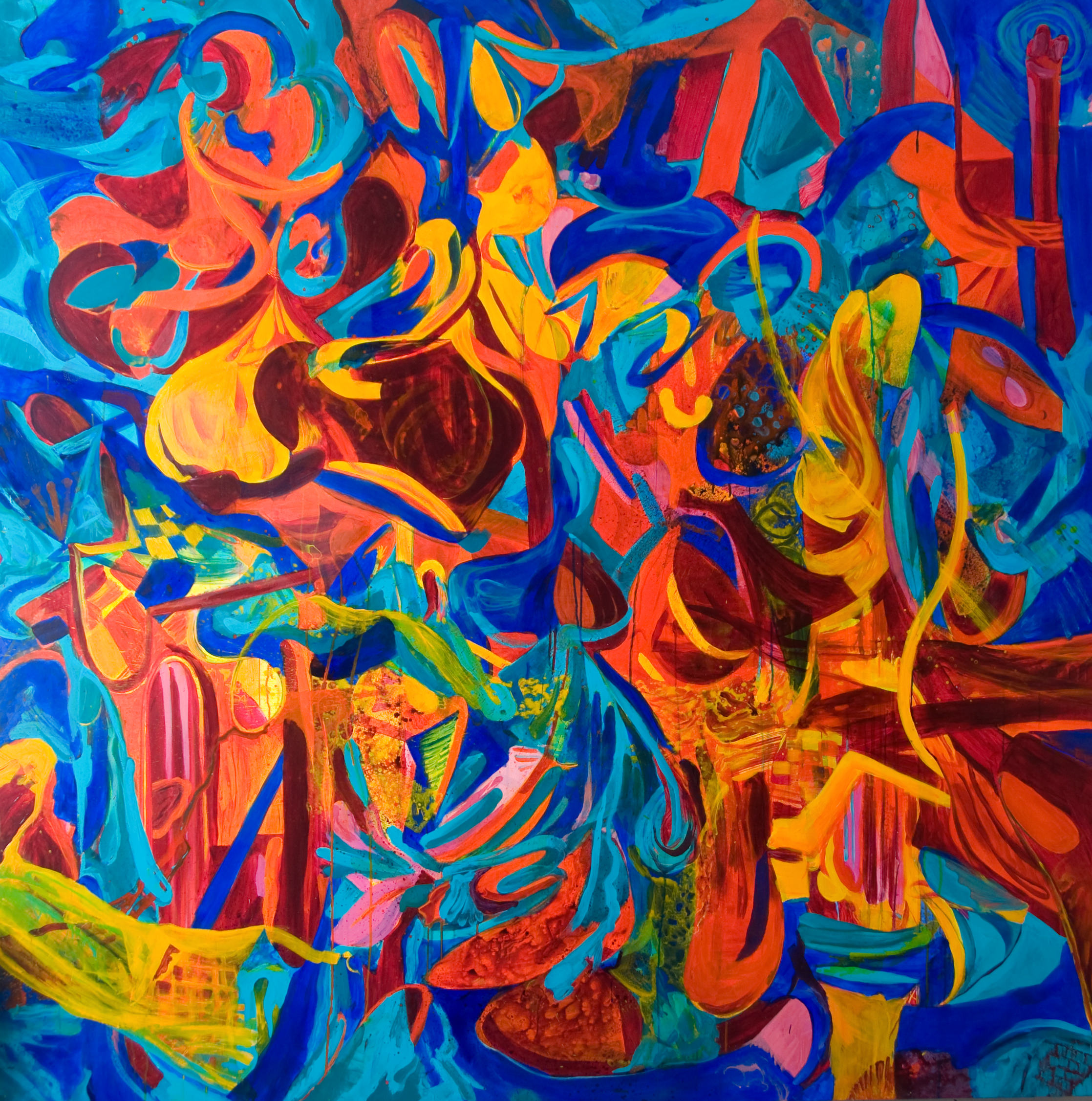 Play | 71 x 71 inches | paint on canvas