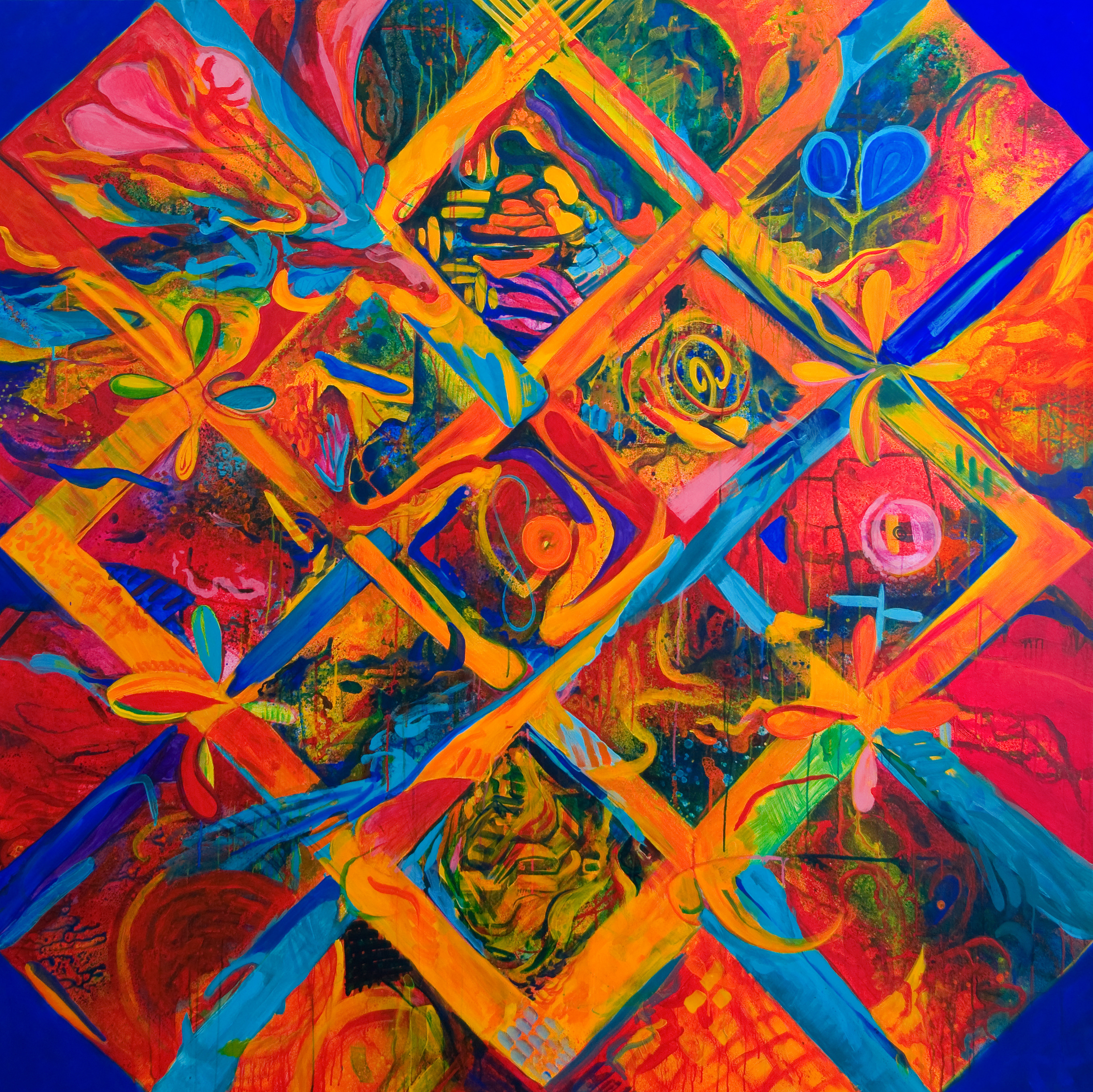 Sacred Place | 71 x 71 inches | paint on canvas