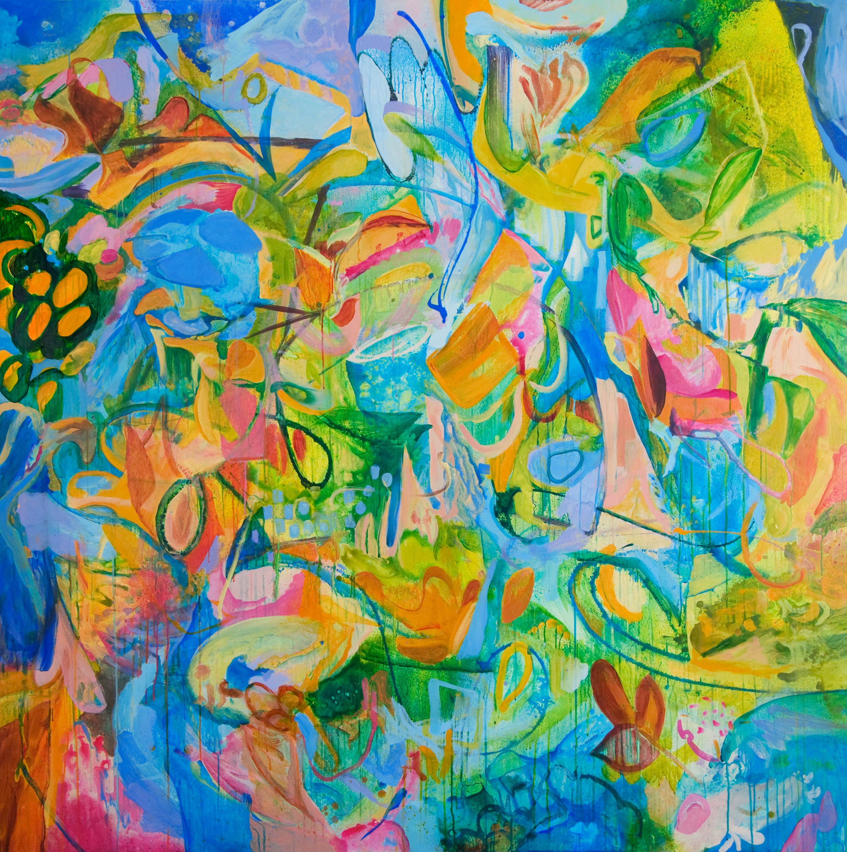 Spring | 71 x 71 inches | paint on canvas
