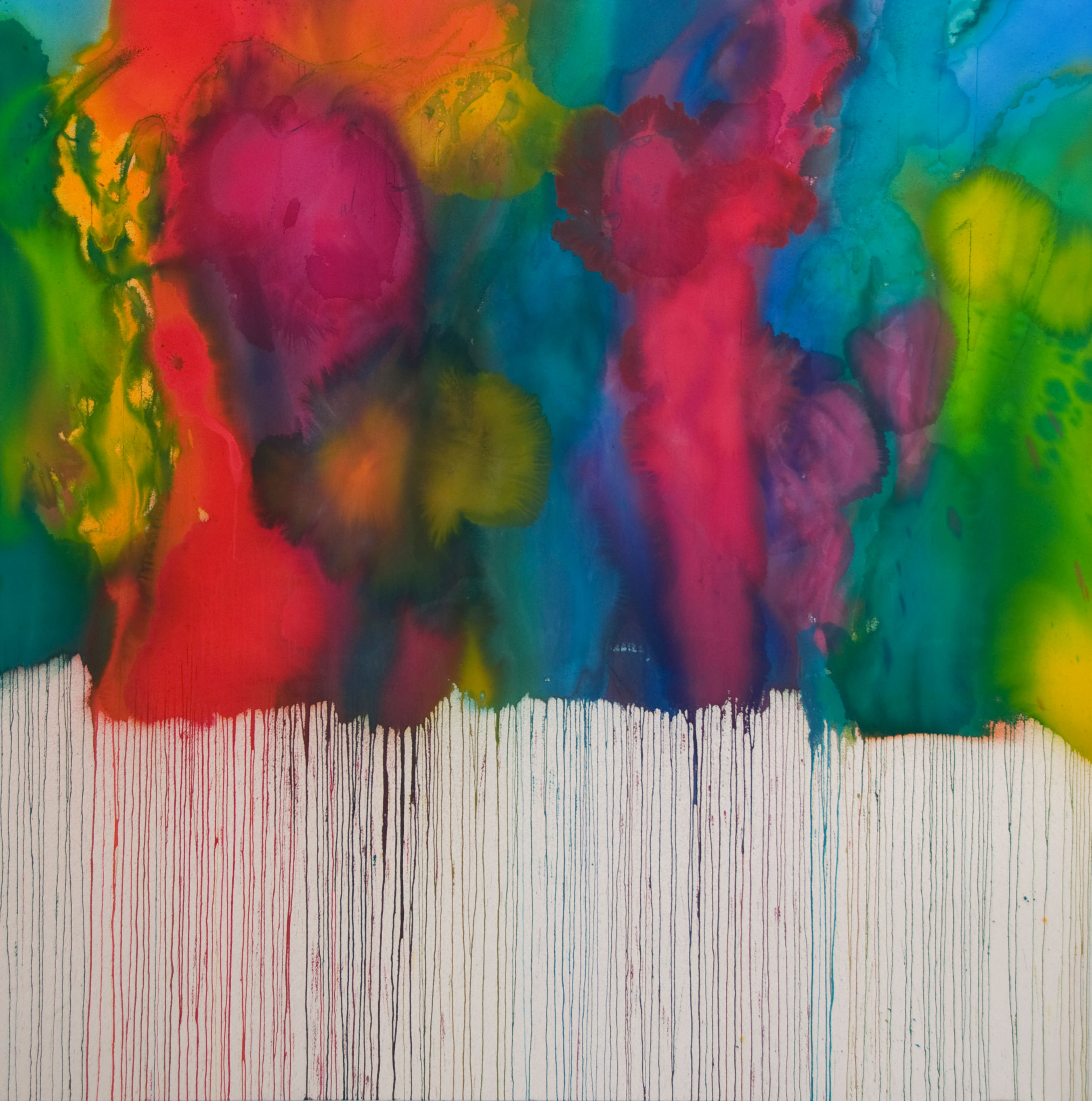 The Dance | 71 x 71 inches | paint on canvas