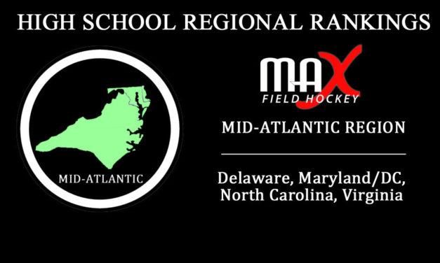 WEEK #1: Mid-Atlantic Region High School Rankings