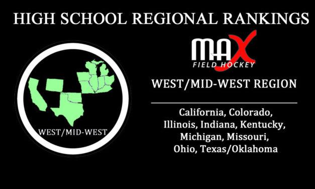 WEEK #1: West/Mid-West Region High School Rankings