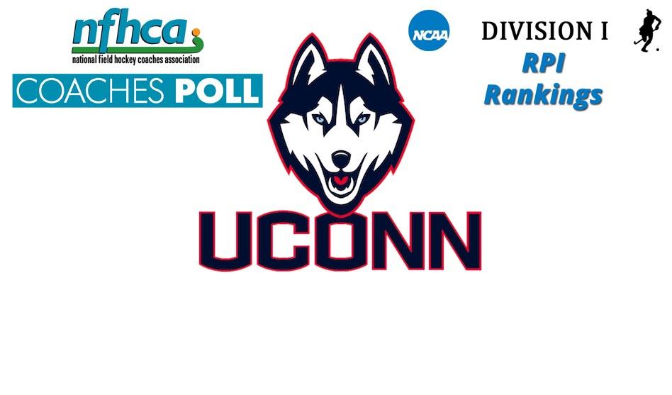 UCONN the #1 on latest NCAA RPI Rankings & NFHCA Coaches Poll