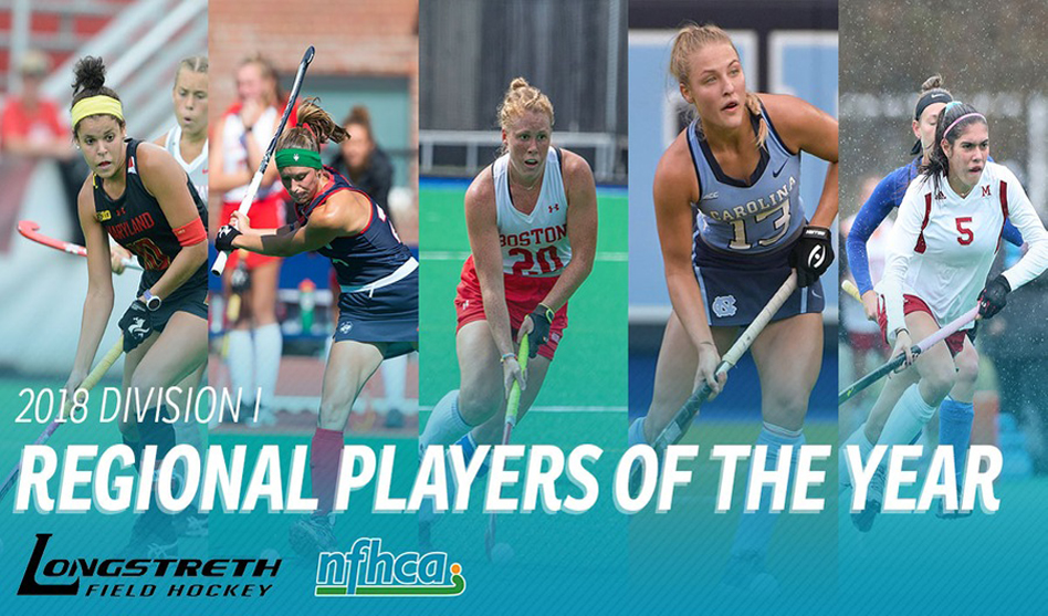 Five athletes selected as Longstreth/NFHCA Division I Regional Players of the Year