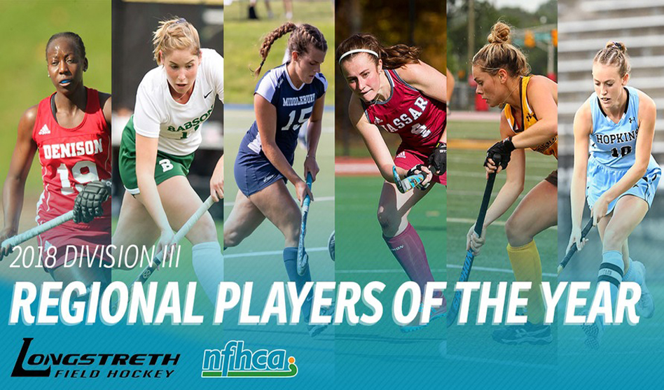 Six athletes selected as Longstreth/NFHCA Division III Regional Players of the Year