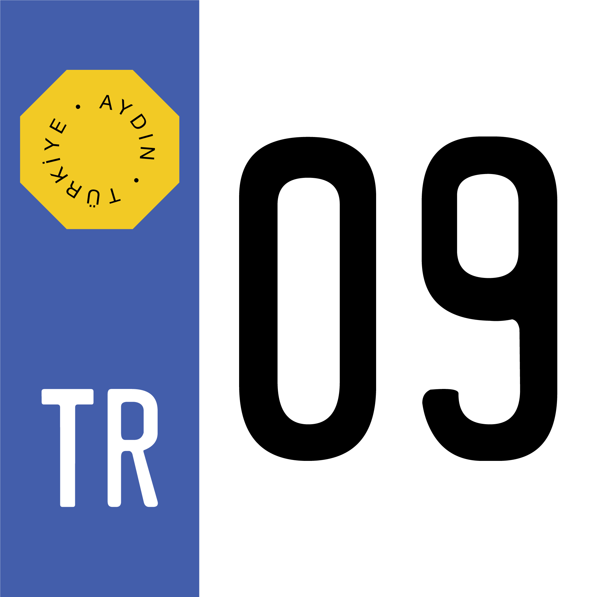 turkish-license-plate-09-aydin-province