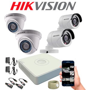 KIT CCTV HIKVISION MINI DVR TURBO CON DISCO DURO KIT-9