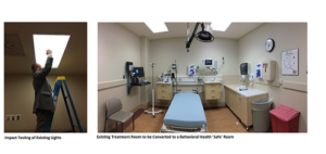 Riverside Regional Medical Center Emergency Department Behavioral Health Safe Treatment Rooms Renovations
