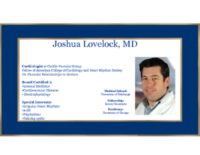 Syncope Diagnostics and treatment – Josh Lovelock, MD