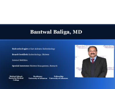 What is new in Diabetes?,Dr. Bantwal Baliga