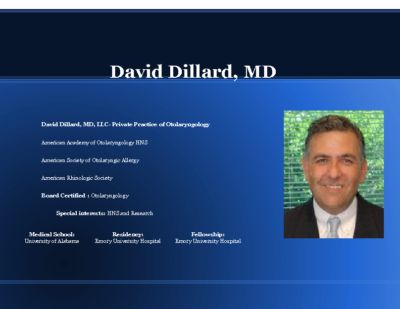 Synergy of Sleep Surgery and Cardiovascular, Dr. David Dillard