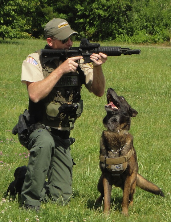 Clint and K9 Eros