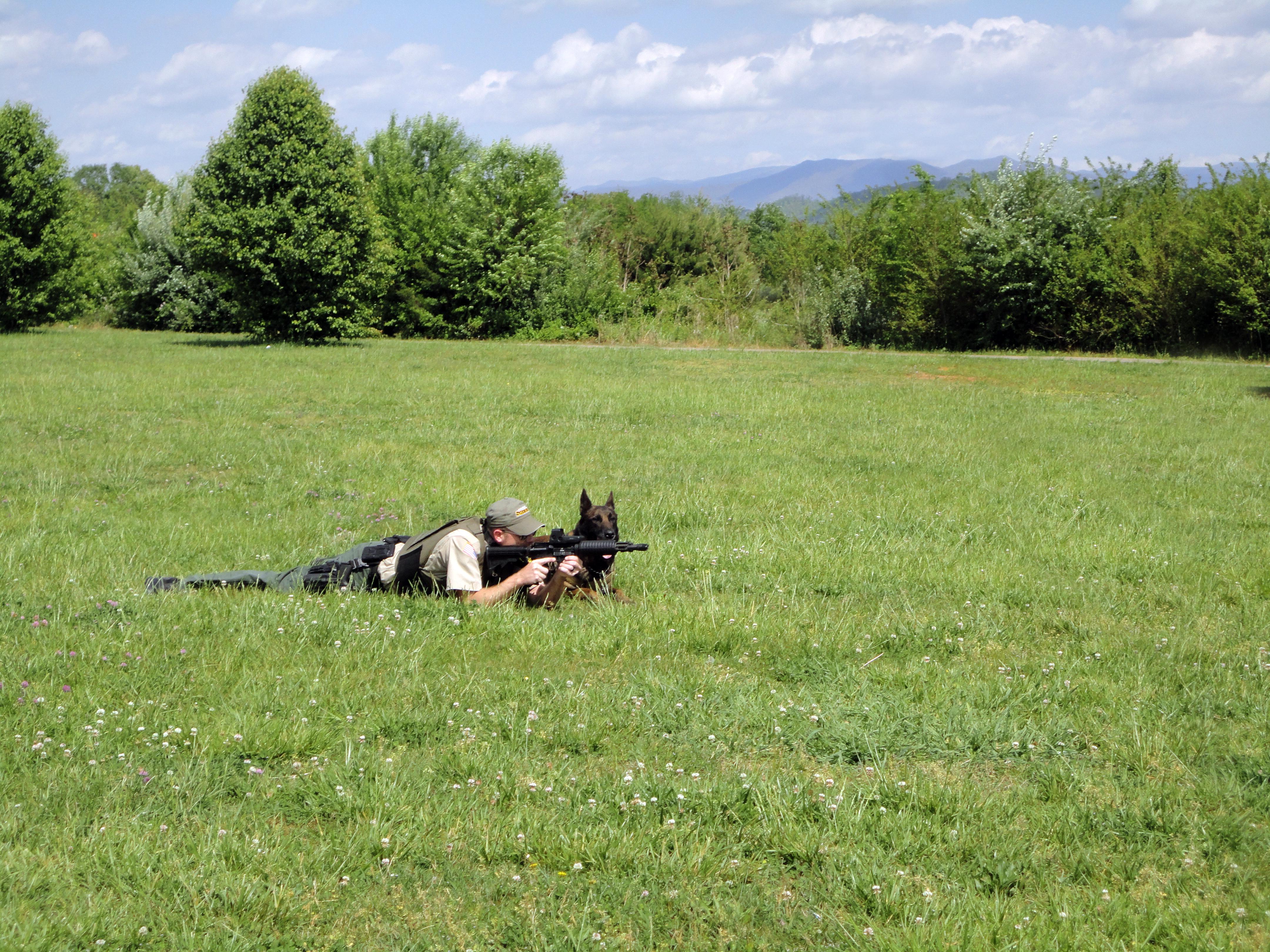 Clint Eros on ground