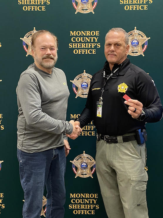 Robert Griswold of Ready Made Resources and Karl Buchberger, Deputy Sheriff