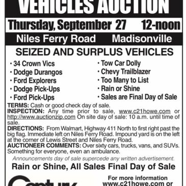 Vehicle Auction add