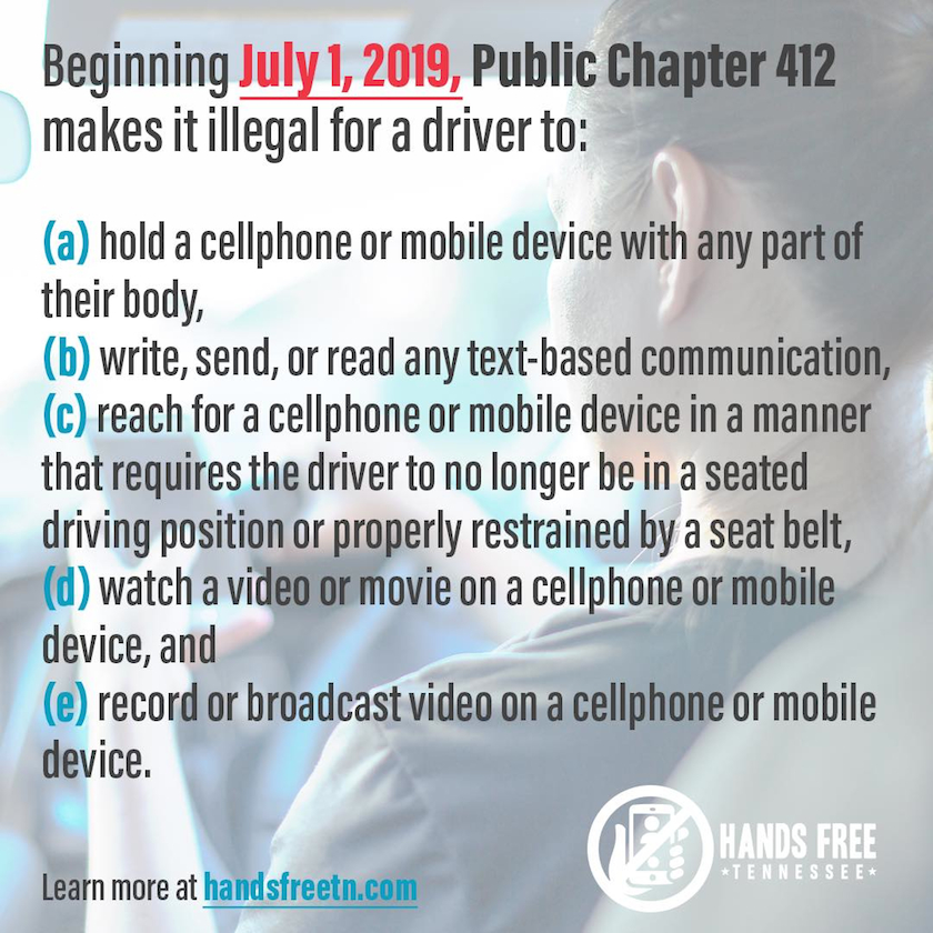 Hands Free Driving Law