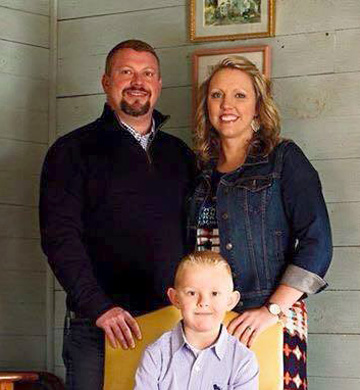 Sheriff Tommy Jones with wife Jeanna and their son