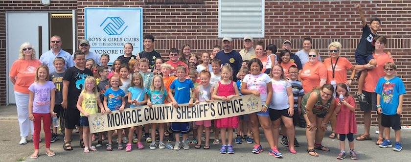 Boys and Girls Club in Vonore enjoy Sheriff's Office cook out.