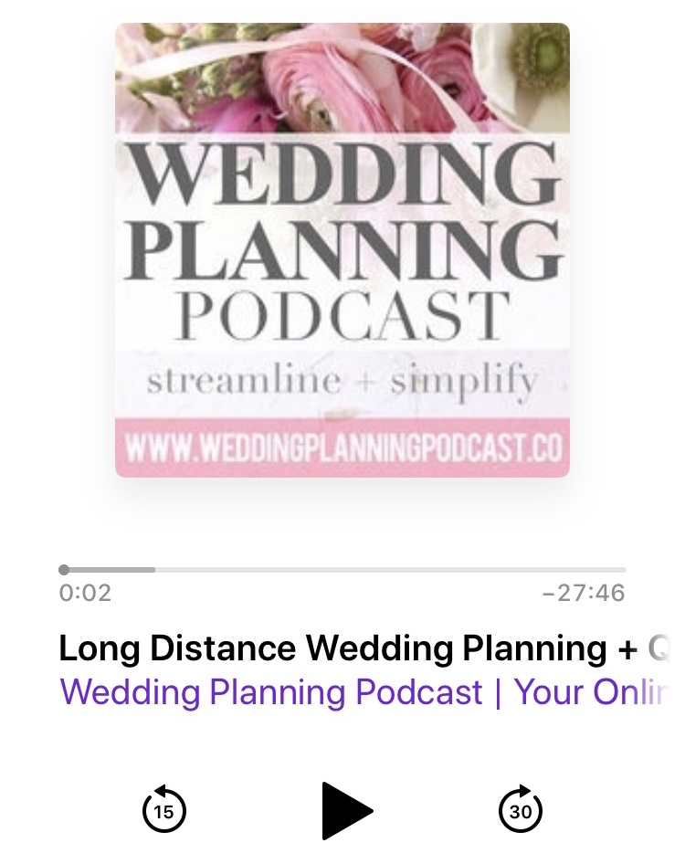 long distance wedding planning